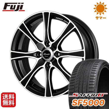 タイヤはフジ 送料無料 MONZA モンツァ ワーウィック カロッツァ 6J 6.00-15 SAFFIRO サフィーロ SF5000(限定) 195/50R15 15インチ サマータイヤ ホイール4本セット