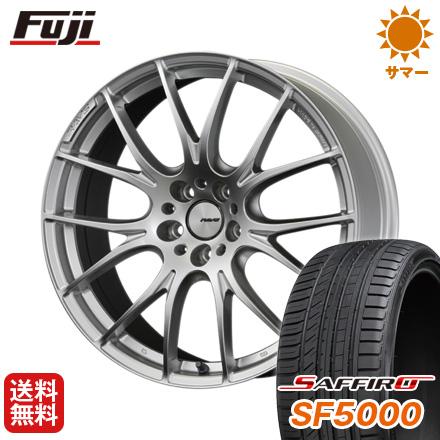 タイヤはフジ 送料無料 RAYS レイズ ホムラ 2X7 8J 8.00-19 SAFFIRO サフィーロ SF5000(限定) 215/35R19 19インチ サマータイヤ ホイール4本セット