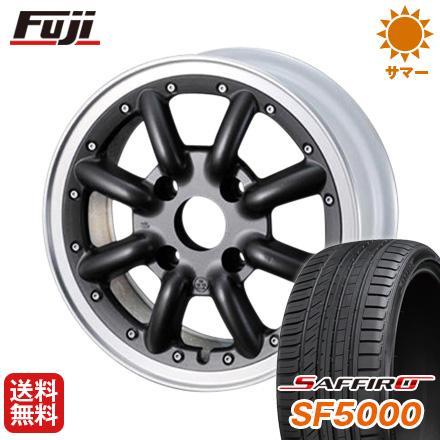 日本製 タイヤはフジ 送料無料 WATANABE ワタナベ New RS8 6J 6.00-15 SAFFIRO サフィーロ SF5000(限定) 185/65R15 15インチ サマータイヤ ホイール4本セット, BIN-1 LIMITED 70603f53
