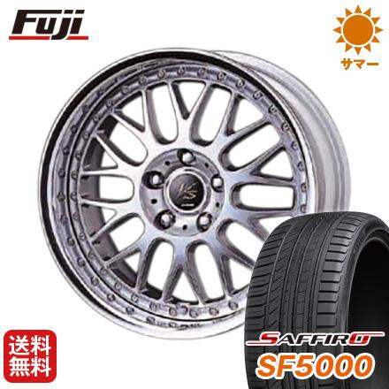 タイヤはフジ 送料無料 WORK ワーク VS VS-XX F:8.50-19 R:9.50-19 SAFFIRO サフィーロ SF5000(限定) F:225/40R19 R:255/35R19 サマータイヤ ホイール4本セット