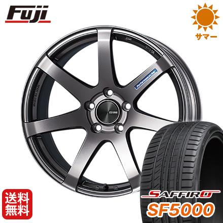 ランキング第1位 タイヤはフジ 送料無料 ENKEI エンケイ PF07 7.5J 7.50-17 SAFFIRO サフィーロ SF5000(限定) 225/55R17 17インチ サマータイヤ ホイール4本セット, UNITED PARKS a51b55e2