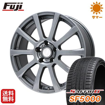 タイヤはフジ 送料無料 BRANDLE ブランドル 565T 7.5J 7.50-18 SAFFIRO サフィーロ SF5000(限定) 225/55R18 18インチ サマータイヤ ホイール4本セット