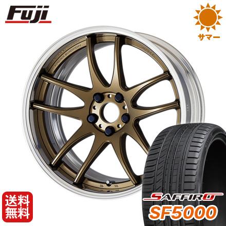 タイヤはフジ 送料無料 WORK ワーク エモーション CR 2P 7.5J 7.50-19 SAFFIRO サフィーロ SF5000(限定) 245/45R19 19インチ サマータイヤ ホイール4本セット