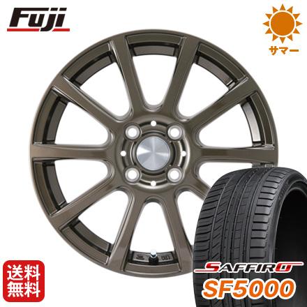 タイヤはフジ 送料無料 カジュアルセット タイプB17 ブロンズ 5.5J 5.50-14 SAFFIRO サフィーロ SF5000(限定) 175/65R14 14インチ サマータイヤ ホイール4本セット