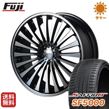 タイヤはフジ 送料無料 MZ SPEED FORGEDデザイン 666 9J 9.00-22 SAFFIRO サフィーロ SF5000(限定) 245/30R22 22インチ サマータイヤ ホイール4本セット