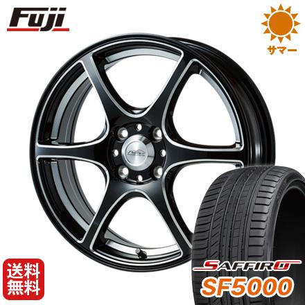 タイヤはフジ 送料無料 5ZIGEN ゴジゲン PROレーサーDF-V6 6J 6.00-15 SAFFIRO サフィーロ SF5000(限定) 195/65R15 15インチ サマータイヤ ホイール4本セット