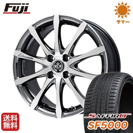 タイヤはフジ 送料無料 LEHRMEISTER レアマイスター ノニーノ(SBCポリッシュ) 6.5J 6.50-17 SAFFIRO サフィーロ SF5000(限定) 205/45R17 17インチ サマータイヤ ホイール4本セット