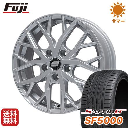 タイヤはフジ 送料無料 BRANDLE ブランドル TM20 7.5J 7.50-18 SAFFIRO サフィーロ SF5000(限定) 225/45R18 18インチ サマータイヤ ホイール4本セット