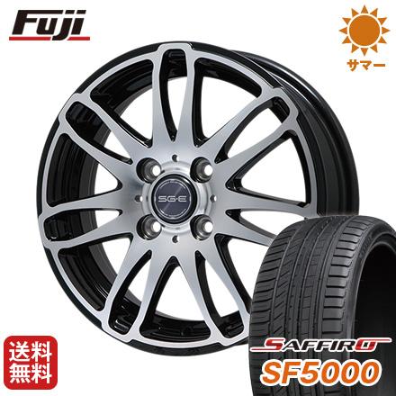 タイヤはフジ 送料無料 BRANDLE ブランドル G72B 5.5J 5.50-15 SAFFIRO サフィーロ SF5000(限定) 185/60R15 15インチ サマータイヤ ホイール4本セット