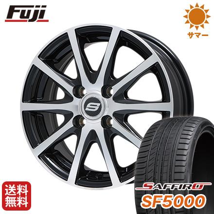 タイヤはフジ 送料無料 BRANDLE ブランドル M71BP 5.5J 5.50-15 SAFFIRO サフィーロ SF5000(限定) 185/60R15 15インチ サマータイヤ ホイール4本セット