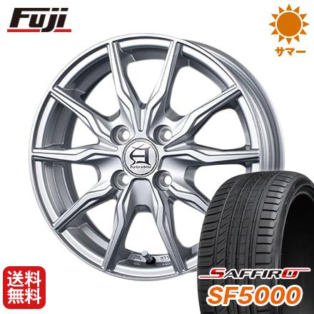タイヤはフジ 送料無料 TECHNOPIA テクノピア アフロディーテ KR 6J 6.00-15 SAFFIRO サフィーロ SF5000(限定) 195/65R15 15インチ サマータイヤ ホイール4本セット