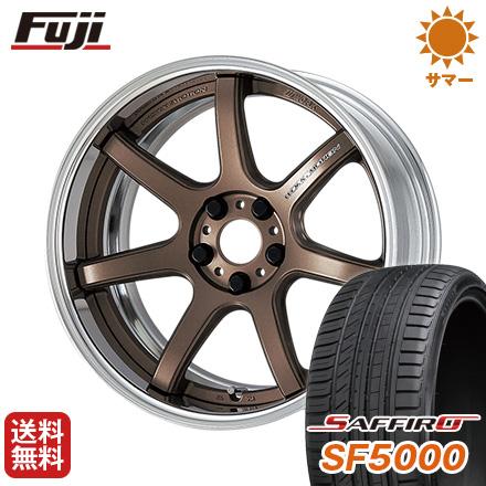 タイヤはフジ 送料無料 WORK ワーク エモーション T7R 2P 8.5J 8.50-19 SAFFIRO サフィーロ SF5000(限定) 245/40R19 19インチ サマータイヤ ホイール4本セット