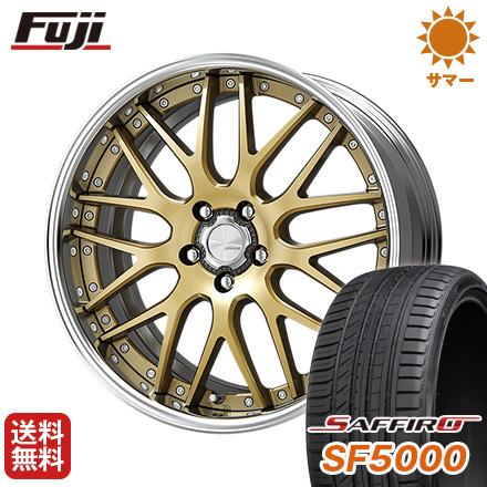 タイヤはフジ 送料無料 WORK ワーク ランベック LM1 F:8.50-20 R:9.50-20 SAFFIRO サフィーロ SF5000(限定) F:245/35R20 R:275/30R20 サマータイヤ ホイール4本セット