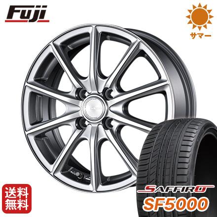 タイヤはフジ 16インチ サマータイヤ サフィーロ ブリヂストン 6J ホイール4本セット SAFFIRO エコフォルム 送料無料 SF5000(限定) BRIDGESTONE 205/45R16 6.00-16 CRS/15
