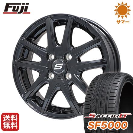 タイヤはフジ 送料無料 BRANDLE ブランドル M61B 5.5J 5.50-14 SAFFIRO サフィーロ SF5000(限定) 185/65R14 14インチ サマータイヤ ホイール4本セット