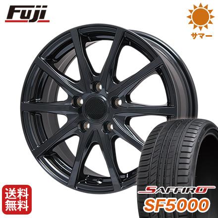 タイヤはフジ 送料無料 BRANDLE ブランドル M71B 6.5J 6.50-16 SAFFIRO サフィーロ SF5000(限定) 215/60R16 16インチ サマータイヤ ホイール4本セット