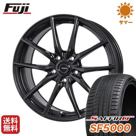 タイヤはフジ 送料無料 HOT STUFF ホットスタッフ ジースピード G-02 7.5J 7.50-18 SAFFIRO サフィーロ SF5000(限定) 215/40R18 18インチ サマータイヤ ホイール4本セット