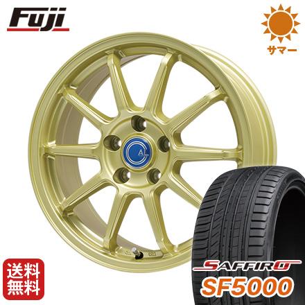 タイヤはフジ 送料無料 BRANDLE-LINE ブランドルライン カルッシャー ゴールド 7J 7.00-17 SAFFIRO サフィーロ SF5000(限定) 215/45R17 17インチ サマータイヤ ホイール4本セット
