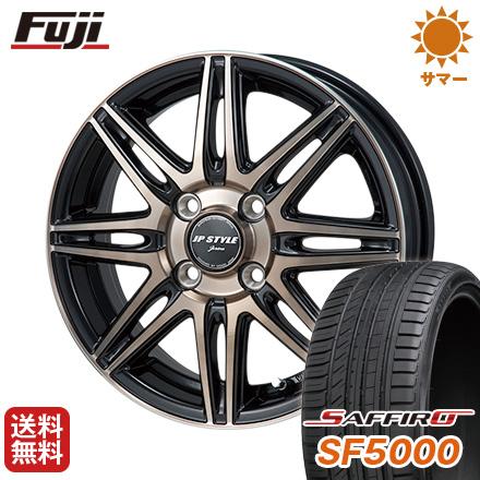 タイヤはフジ 送料無料 MONZA モンツァ JPスタイルジェリバ 5.5J 5.50-14 SAFFIRO サフィーロ SF5000(限定) 175/65R14 14インチ サマータイヤ ホイール4本セット
