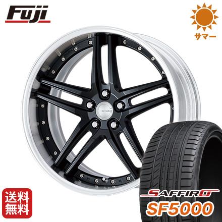 タイヤはフジ 送料無料 WORK ワーク グノーシスGR 205 F:8.50-18 R:9.50-18 SAFFIRO サフィーロ SF5000(限定) F:235/40R18 R:265/35R18 18インチ サマータイヤ ホイール4本セット