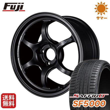 大勧め タイヤはフジ 送料無料 YOKOHAMA ヨコハマ アドバンレーシング RG-DII 5.5J 5.50-15 SAFFIRO サフィーロ SF5000(限定) 185/65R15 15インチ サマータイヤ ホイール4本セット, ハピネスガーデン 6730722a