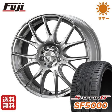 タイヤはフジ 送料無料 RAYS レイズ ホムラ 2X7PLUS 7.5J 7.50-18 SAFFIRO サフィーロ SF5000(限定) 215/40R18 18インチ サマータイヤ ホイール4本セット
