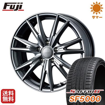 タイヤはフジ 送料無料 WEDS ウェッズ ヴェルバ ケヴィン 7.5J 7.50-17 SAFFIRO サフィーロ SF5000(限定) 215/50R17 17インチ サマータイヤ ホイール4本セット
