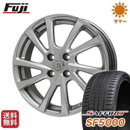 タイヤはフジ 送料無料 BRANDLE ブランドル E04 6J 6.00-15 SAFFIRO サフィーロ SF5000(限定) 185/60R15 15インチ サマータイヤ ホイール4本セット