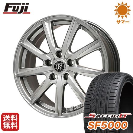 タイヤはフジ 送料無料 BRANDLE ブランドル E05 7.5J 7.50-18 SAFFIRO サフィーロ SF5000(限定) 225/45R18 18インチ サマータイヤ ホイール4本セット