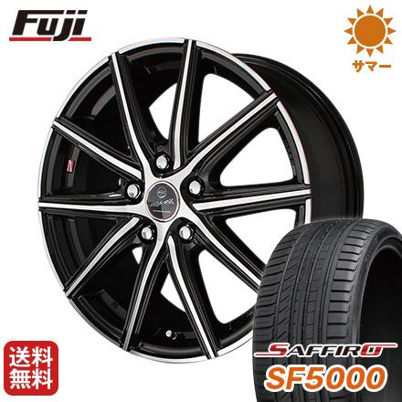 タイヤはフジ 送料無料 KYOHO 共豊 スマック プライム ヴァニッシュ 6.5J 6.50-16 SAFFIRO サフィーロ SF5000(限定) 195/55R16 16インチ サマータイヤ ホイール4本セット