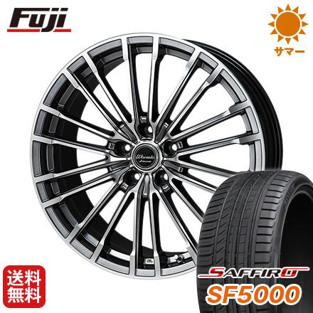タイヤはフジ 送料無料 MONZA モンツァ ワーウィック アデッサー 8J 8.00-19 SAFFIRO サフィーロ SF5000(限定) 235/55R19 19インチ サマータイヤ ホイール4本セット