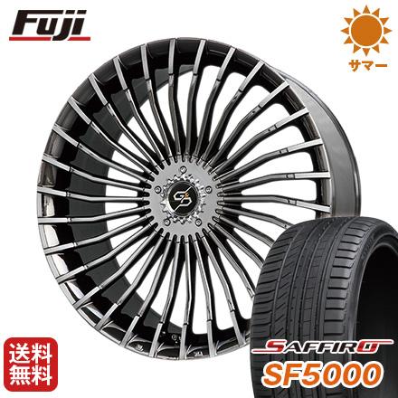 タイヤはフジ 送料無料 PREMIX プレミックス グラッパ f30 (BMCポリッシュ) 7J 7.00-17 SAFFIRO サフィーロ SF5000(限定) 215/45R17 17インチ サマータイヤ ホイール4本セット
