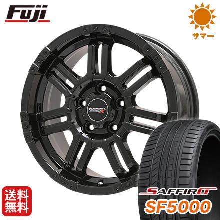 タイヤはフジ 送料無料 BIGWAY ビッグウエイ B-MUD X B-MUD X(グロスブラック) 7J 7.00-17 SAFFIRO サフィーロ SF5000(限定) 225/55R17 17インチ サマータイヤ ホイール4本セット