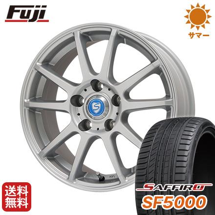タイヤはフジ 送料無料 BRANDLE-LINE ブランドルライン カリテスS10 6.5J 6.50-16 SAFFIRO サフィーロ SF5000(限定) 215/60R16 16インチ サマータイヤ ホイール4本セット
