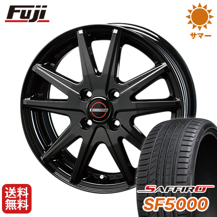 タイヤはフジ 送料無料 BLEST ブレスト ユーロマジック ランスST 5.5J 5.50-15 SAFFIRO サフィーロ SF5000(限定) 185/55R15 15インチ サマータイヤ ホイール4本セット
