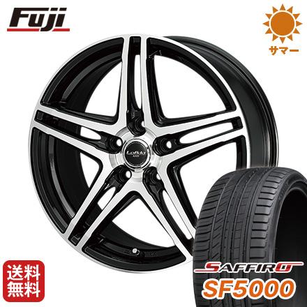 タイヤはフジ 送料無料 DUNLOP ロフィーダ XH5 6.5J 6.50-16 SAFFIRO サフィーロ SF5000(限定) 215/65R16 16インチ サマータイヤ ホイール4本セット
