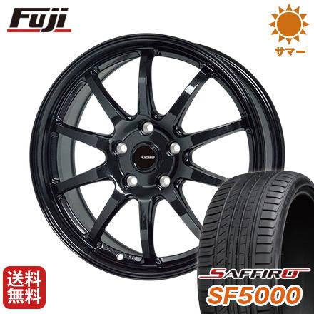 タイヤはフジ 送料無料 サマータイヤ HOT STUFF ホットスタッフ ジースピード タイヤはフジ G-04 ホットスタッフ 7.5J 7.50-18 SAFFIRO サフィーロ SF5000(限定) 215/40R18 18インチ サマータイヤ ホイール4本セット, Marysecret:60bd7a7f --- sunward.msk.ru