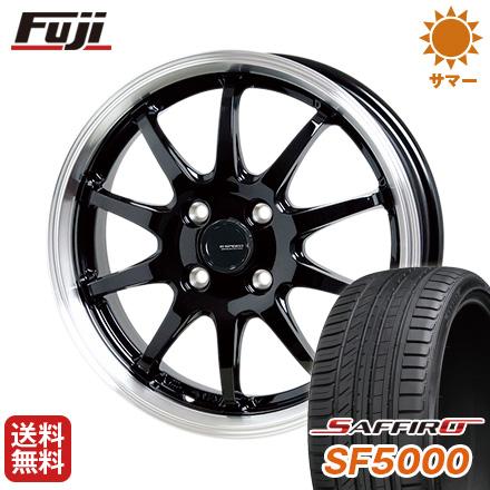 タイヤはフジ 送料無料 HOT STUFF ホットスタッフ ジースピード P-04 6J 6.00-16 SAFFIRO サフィーロ SF5000(限定) 195/45R16 16インチ サマータイヤ ホイール4本セット