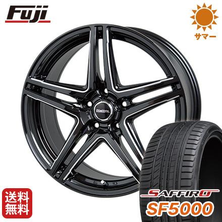 タイヤはフジ 送料無料 HOT STUFF ホットスタッフ ラフィット LW-04 6.5J 6.50-16 SAFFIRO サフィーロ SF5000(限定) 215/60R16 16インチ サマータイヤ ホイール4本セット