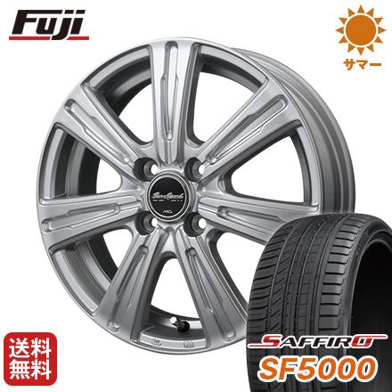 タイヤはフジ 送料無料 MID ユーロスピード C-07 5.5J 5.50-15 SAFFIRO サフィーロ SF5000(限定) 185/65R15 15インチ サマータイヤ ホイール4本セット