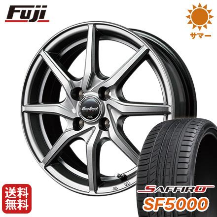 タイヤはフジ 送料無料 MID ユーロスピード G810 5.5J 5.50-14 SAFFIRO サフィーロ SF5000(限定) 185/65R14 14インチ サマータイヤ ホイール4本セット