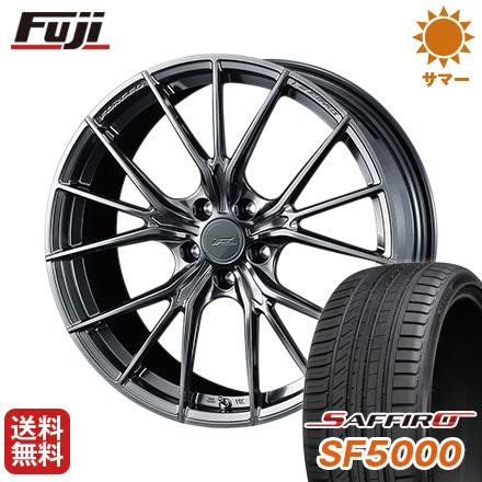 タイヤはフジ 送料無料 WEDS ウェッズ F-ZERO FZ-1 8J 8.00-19 SAFFIRO サフィーロ SF5000(限定) 215/35R19 19インチ サマータイヤ ホイール4本セット