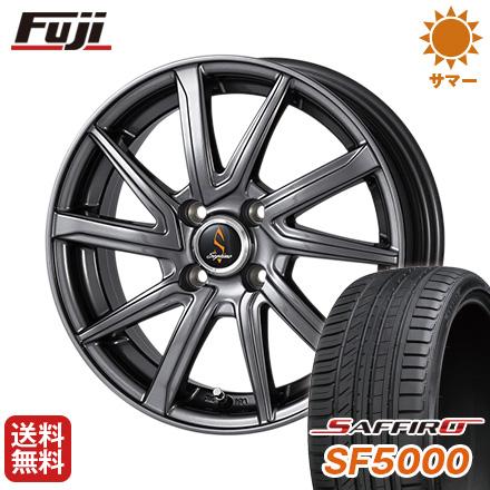 タイヤはフジ 送料無料 WORK ワーク セプティモ G01 ダークグレー 5.5J 5.50-14 SAFFIRO サフィーロ SF5000(限定) 185/65R14 14インチ サマータイヤ ホイール4本セット
