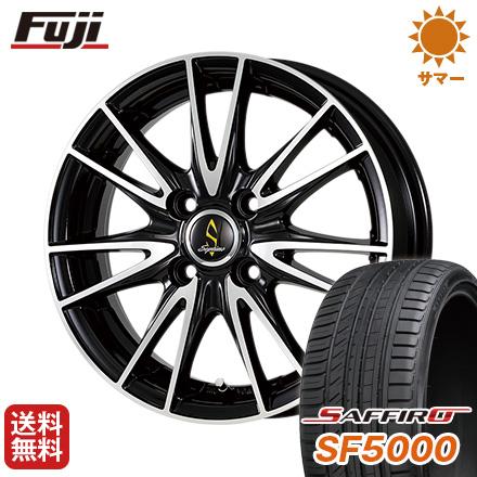 タイヤはフジ 送料無料 WORK ワーク セプティモ G02 ブラックポリッシュ 5.5J 5.50-15 SAFFIRO サフィーロ SF5000(限定) 185/55R15 15インチ サマータイヤ ホイール4本セット