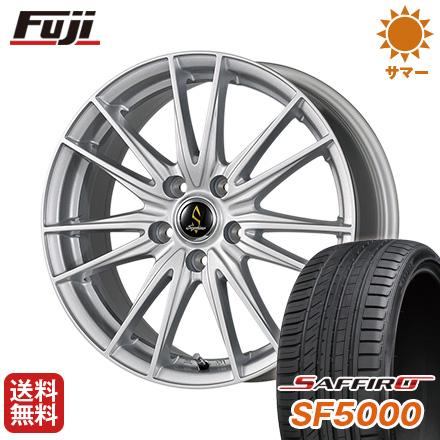 タイヤはフジ 送料無料 WORK ワーク セプティモ G02 シルバーメタリック 7J 7.00-17 SAFFIRO サフィーロ SF5000(限定) 215/45R17 17インチ サマータイヤ ホイール4本セット