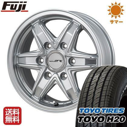 TOKYO 6J SYARIN レミューゼン TOYO ホイール4本セット 送料無料 タイヤはフジ 15インチ NEWホワイトレター H20 ハイエース200系 195/80R15 6.00-15 東京車輪 サマータイヤ