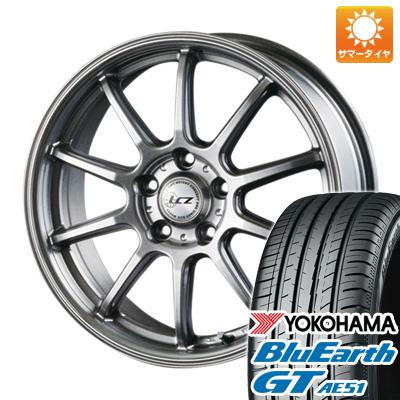 タイヤはフジ 送料無料 INTER MILANO インターミラノ LCZ 010 6J 6.00-15 YOKOHAMA ブルーアース GT AE51 195/65R15 15インチ サマータイヤ ホイール4本セット