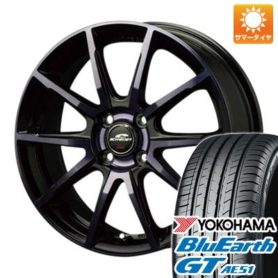 タイヤはフジ 送料無料 MID シュナイダー DR-01 4.5J 4.50-15 YOKOHAMA ブルーアース GT AE51 165/55R15 15インチ サマータイヤ ホイール4本セット