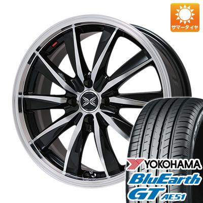 タイヤはフジ 送料無料 PREMIX プレミックス ルマーニュ(ブラックポリッシュ)限定 6J 6.00-16 YOKOHAMA ブルーアース GT AE51 185/55R16 16インチ サマータイヤ ホイール4本セット