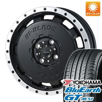 タイヤはフジ 送料無料 MONZA モンツァ HI-BLOCK バレックス 4.5J 4.50-14 YOKOHAMA ブルーアース GT AE51 155/65R14 14インチ サマータイヤ ホイール4本セット